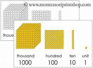 Printable Montessori Golden Beads Control Charts Color