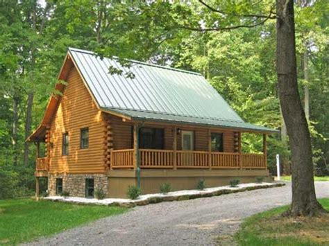 simple front porch log cabin with wrap around porch log
