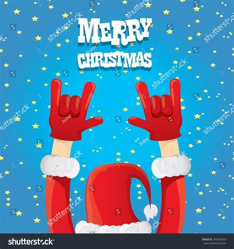 santa claus hand rock  roll stock vector