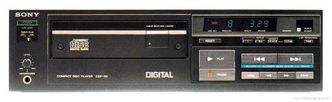 sony cdp  manual stereo compact disc player hifi