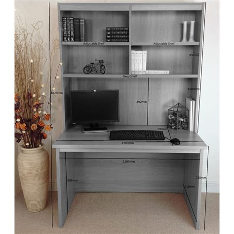 home computer desk with hutch home office uk computer desk with hutch wayfair uk