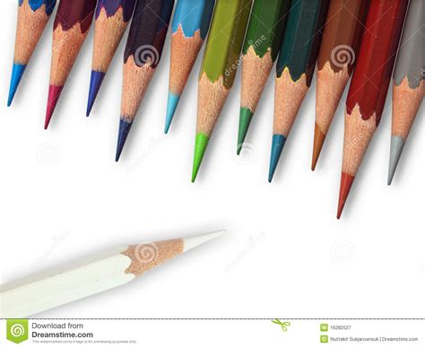 white color  eleven cool tone color pencil royalty