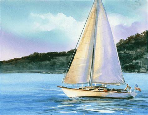 Sailboat On Water by Sailboat Painting Water Sailboat