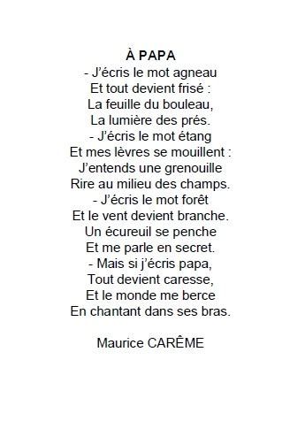 poesie  papa maurice careme