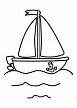Coloring Boat Printable Colouring Drawing Simple Preschool Printables Sheets Procoloring 2d Police Toddlers Row sketch template