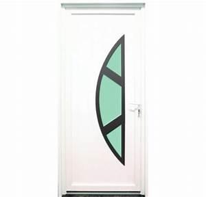 porte dentree en pvc blanc 215 x 090 cm demi lune marne With porte d entrée pvc avec chauffage salle de bain appoint