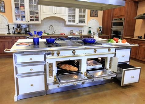 kitchen island with oven la cornue custom handcrafted range ovens traditional 5216