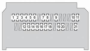 Toyota Yaris Hatchback  2008 - 2010  - Fuse Box Diagram