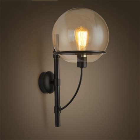 21 h clear glass 1 light wall sconce with globe shade