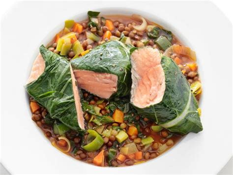 the green kitchen recipes salmon with lentils recipe food network kitchen food 6055
