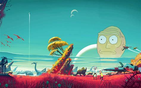 rick  morty  mans sky mashup wallpaper rickandmorty