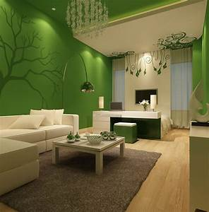 Bright, Green, Living, Room, Walls, House, Decor, With, Lime, Green