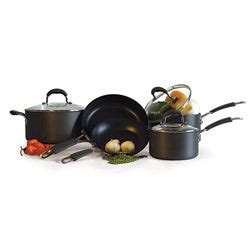 shop holstein  piece hard anodized cookware set  shipping today overstock
