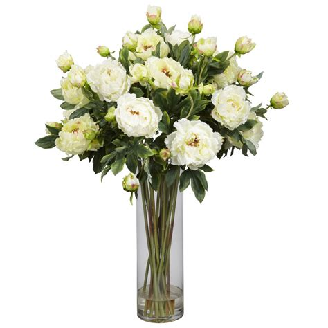 Flower Arrangements In A Vase by New 38 Quot White Peony Artificial Silk Flower