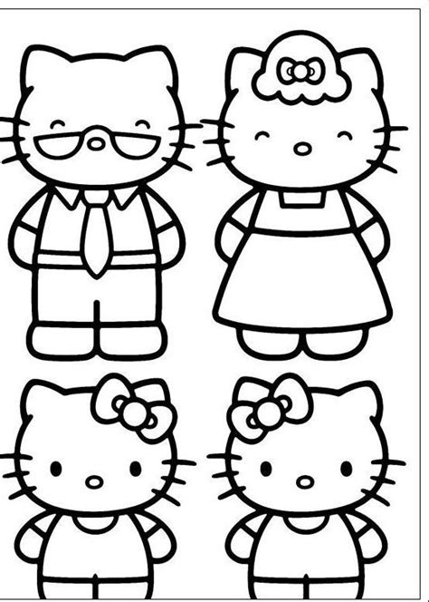 I have download Two Hello Kitty And Old Coloring Page