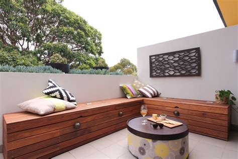 Balcony Bench Outdoor Benches Deck Contemporary With