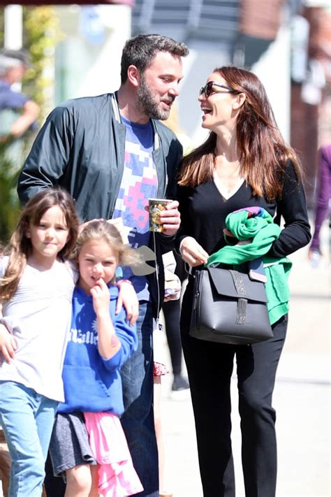 ben affleck and garner happy together as they take their kids to church