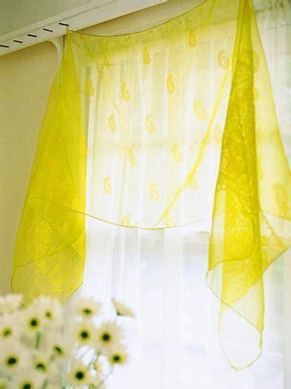 creative window treatments  summer decorating ideas