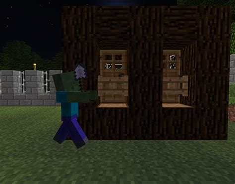 minecraft fence zombie gate village proof xbox gates zombies doors villagers thumbnail front wood uninterested were