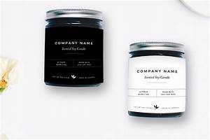 minimalist candle label flyer templates creative market With candle label design template