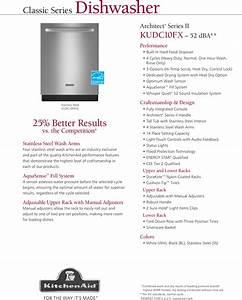 Kitchenaid Dishwasher Kudc10fxss Users Manual