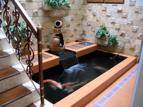 ide desain kolam ikan minimalis modern  pond design