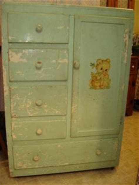 Child S Armoire - 1950 s 1960 s nursery dresser infants childs wardrobe