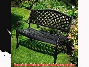 Banc De Jardin En Fer : banc de jardin jasmine aluminium style fer forg coloris bronze ancien youtube ~ Melissatoandfro.com Idées de Décoration