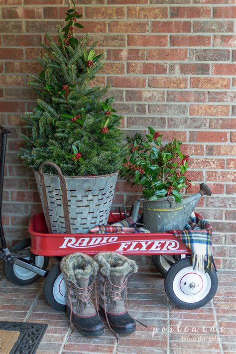 simple christmas front porch decorating ideas postcards