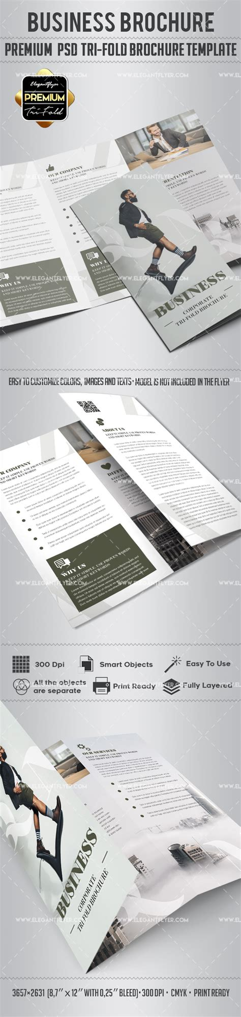 Brochure 3 Fold Template Psd Business Tri Fold Brochure Psd Template By Elegantflyer
