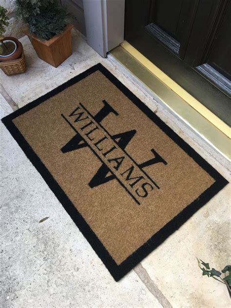 Personalized Outdoor Doormats by Best 25 Welcome Mats Ideas On