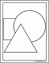 Shapes Coloring Shape Pages Circles Triangles Three Circle Triangle Square Squares Grade Print Colorwithfuzzy sketch template