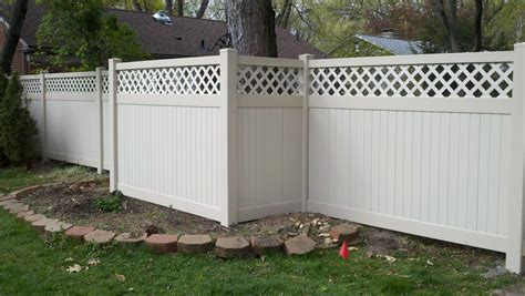 best privacy fence lattice top vinyl privacy fence