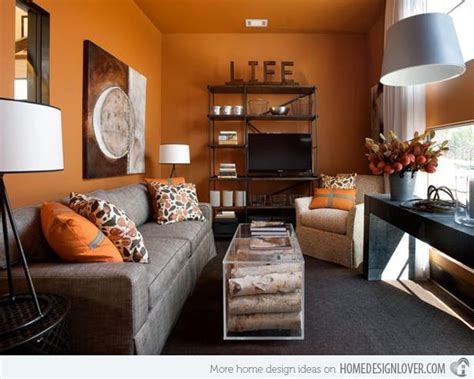 Living Room Decor With Orange Walls by 15 To Fruity Orange Living Room Designs