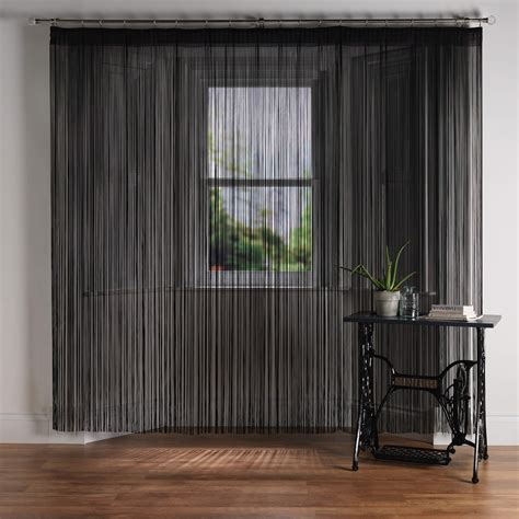 String Curtains by Cordon Slate Premier Retardant String Curtain From