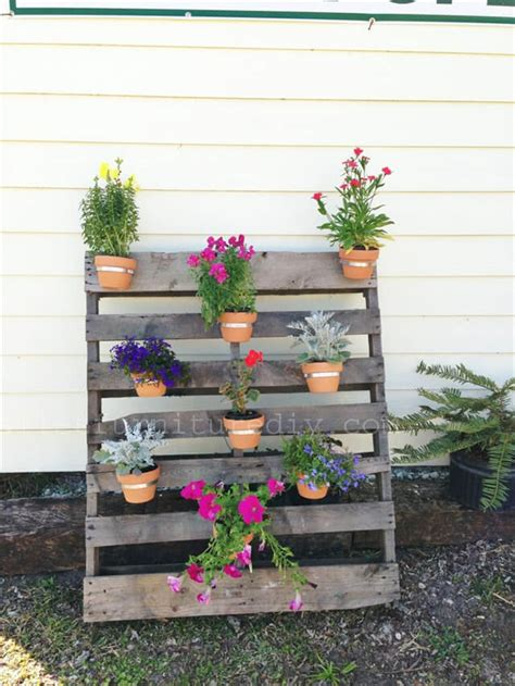 vertical  box recycled pallet planters pallet