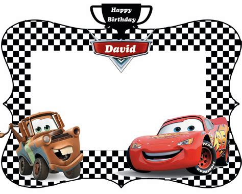 free printable photo birthday cards free printable lightning mcqueen birthday invitations
