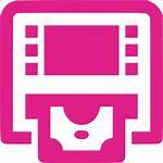 Atm Icon Icons Barbie Orange Gray Pink