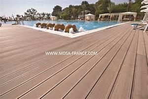 Lame De Bois Pour Terrasse : lame de terrasse en bois composite destockage grossiste ~ Melissatoandfro.com Idées de Décoration