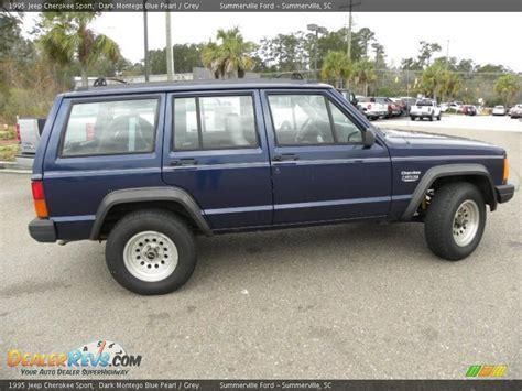 blue grey jeep cherokee 1995 jeep cherokee sport dark montego blue pearl grey