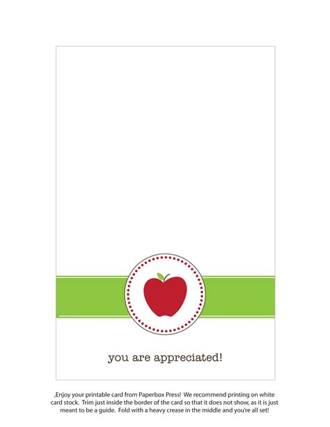 Celebrate your teachers using our free cards, printables, virtual bouquets, and more! Paperbox Press Parties: FREE Printable Teacher Appreciation Cards