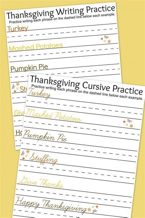 thanksgiving writing practice worksheets  moms
