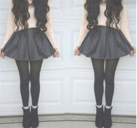 Skirt hipster outfit cute blouse shoes high waisted skirt skater skirt - Wheretoget