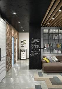 l39ardoise murale noire un objet de deco pour votre interieur With mur en ardoise interieur