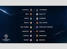 Tirage au sort des 8e de finale de la Ligue des Champions