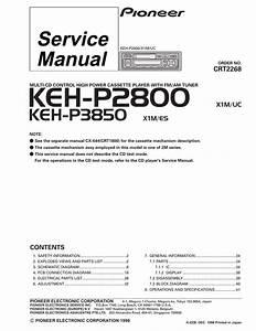 Pioneer Keh-p2800 Cassette Player