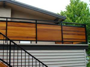 metal framed horizontal wood privacy rail deck railing mountain laurel handrails nationwide