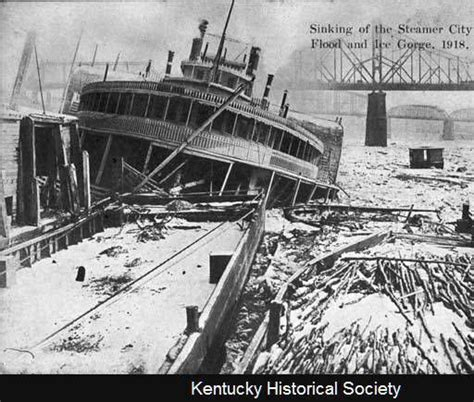 Pontoon Boat Sinks In Ohio River by Sinking Of The Steamer Quot City Of Louisville Quot Flood