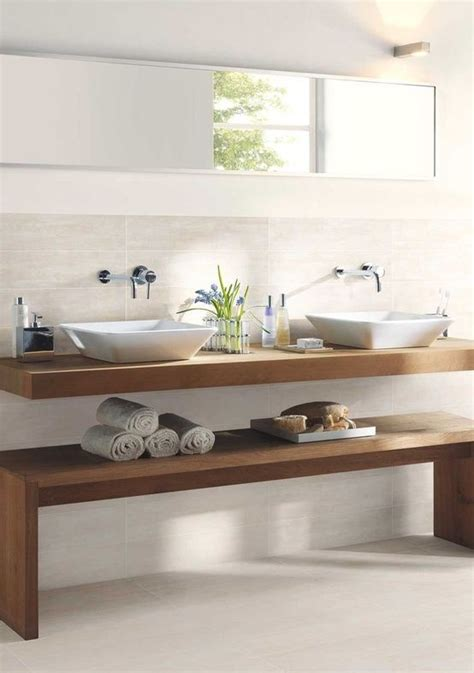 Spa Style Bathroom Vanity by Floating Vanity With Raised Vessel Sinks Create A Sleek