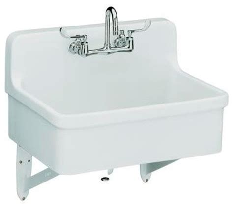 Kohler Gilford Sink Specs by Kohler K 12787 0 Gilford Scrub Up Plaster Sink With Two